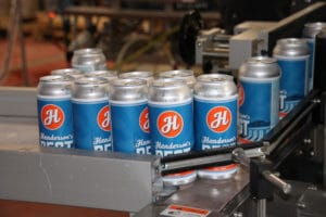 Lorpon Labels works with Henderson Brewing to label cans